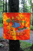 Camp Flag at Hickory Run, PA