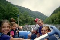Rafting on the Lehigh from in the boat