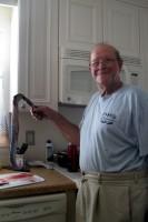 Nonno holding the SKINNED Eel