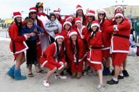 Crazy Santa Swimmers