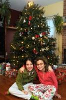 Gabriella & Elisa on Christmas morning