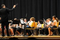 Elisa playing the oboe in the Edgewood band, 2011