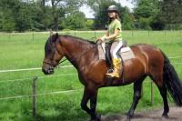 Elisa Riding at Opa's