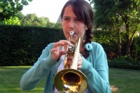 Gabriella tooting her horn
