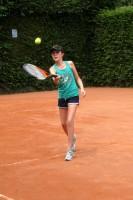 Gabriella learning tennis