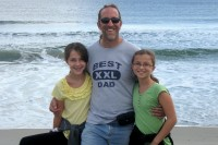 Papa & the Girls at Corsons Inlet