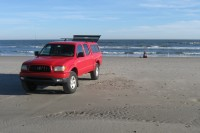Papa's truck on the beach in OC