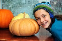 Great Pumpkin, with Gabriella for size