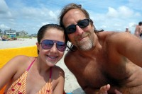 Gabriella & Papa on the beach