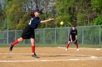 Elisa pitching softball 2012