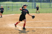 Elisa fielding softball 2012