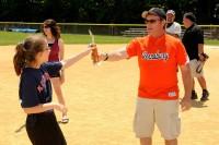Elisa with coach Dan Decker