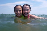 Gabriella & Elisa in the Ocean City OCEAN