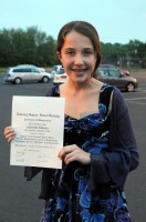 Gabriella with her Honor Society certificate