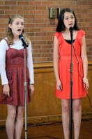 Gabriella & Sylvia singing at their Coming of Age Ceremony