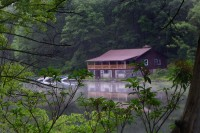 Boat House from our site on the pond