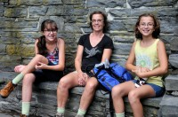 Resting at the scenic overlook at Taughannock